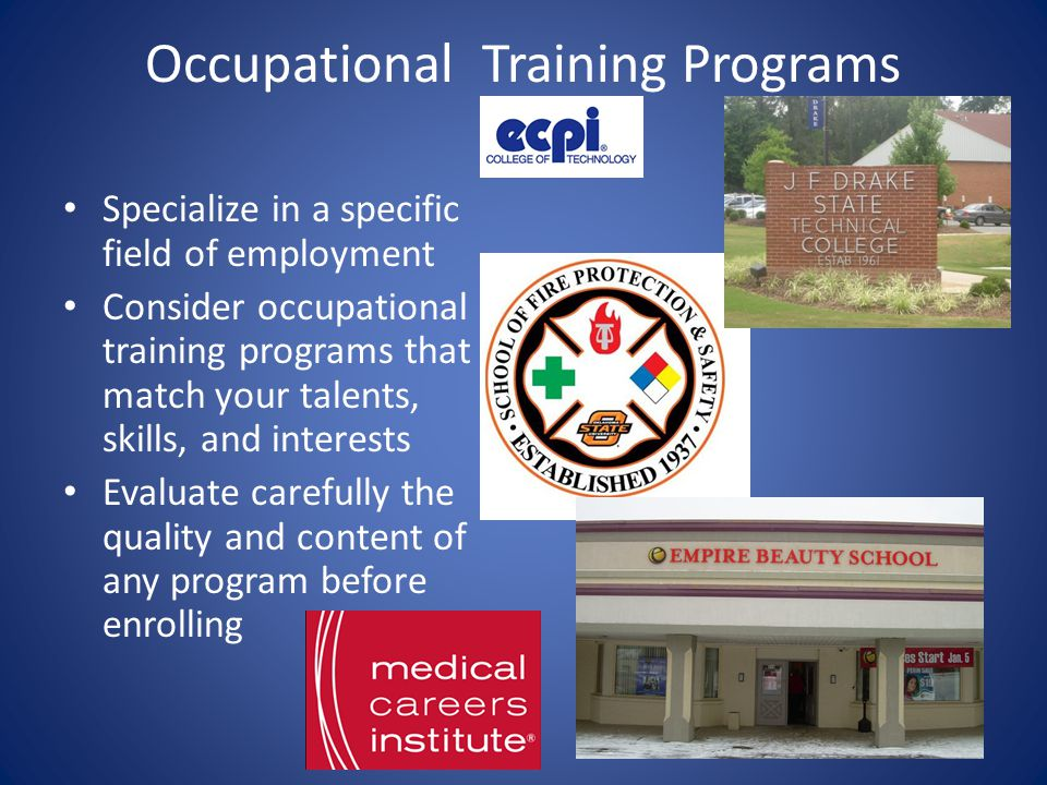 Occupational Training Programs