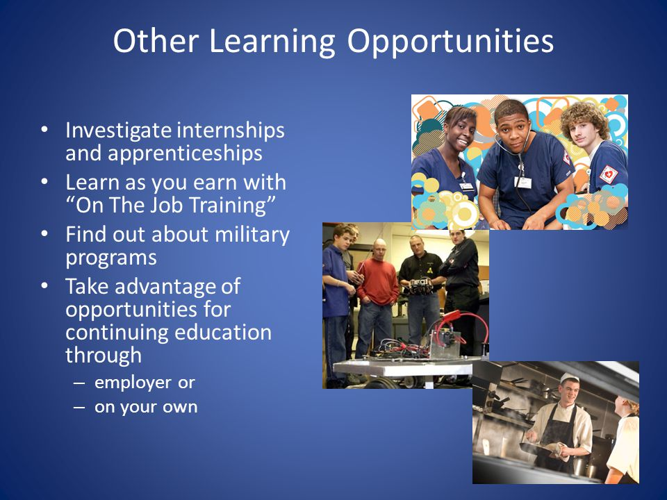 Other Learning Opportunities