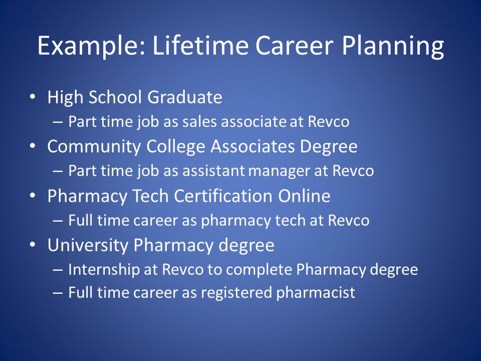 Example: Lifetime Career Planning