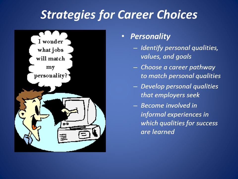 Strategies for Career Choices