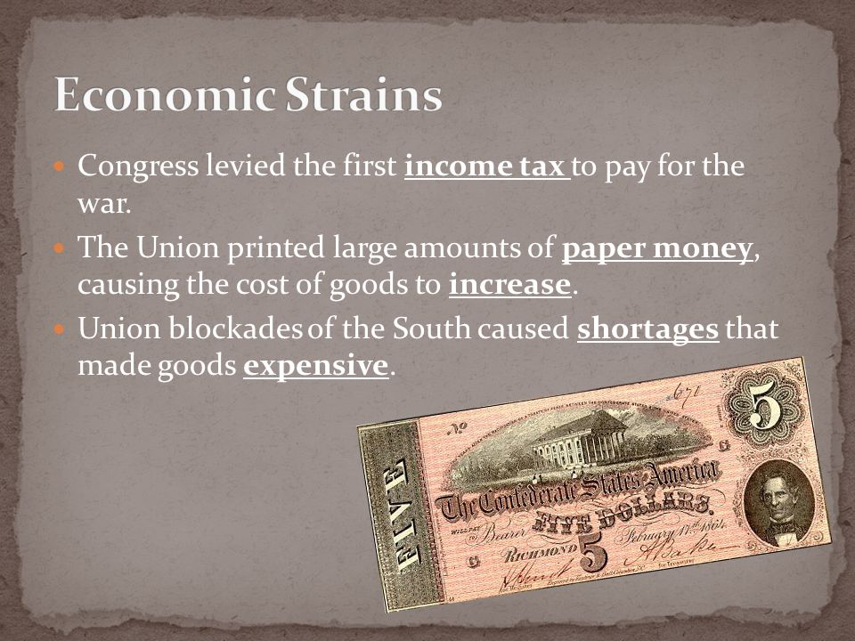 Economic causes of the civil war essay