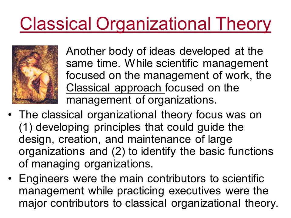 organizational management approach and management theory -the human relations approach- a behavioral management theory that focuses on individual working in group settings and in which managers and workers are studied in relation to what occurs in the group.