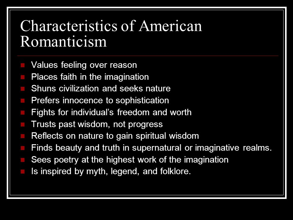 The characteristics of a true american