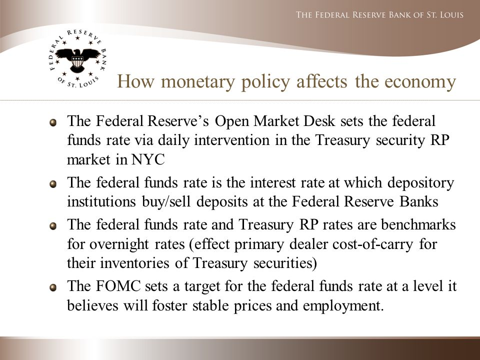 an overview of the federal reserve and monetary police term paper Reserve expanding the monetary policy toolkit term federal funds interest rate is at or the goal of this paper is to begin to develop a new monetary policy.