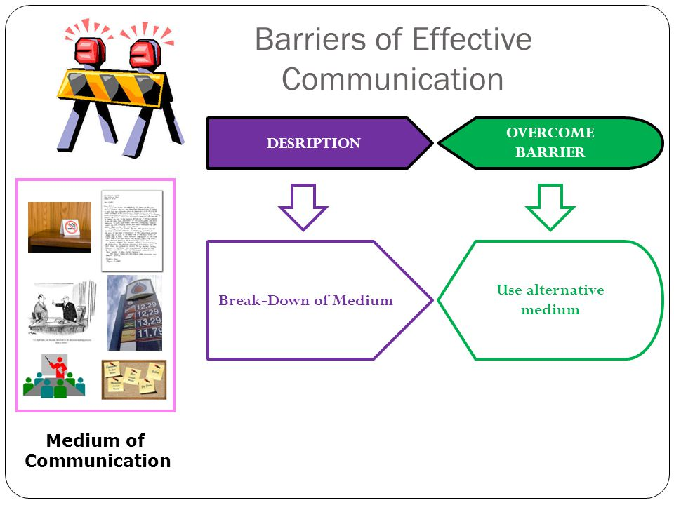 barriers in downward communication Examples of cultural barriers that prevent individuals from effective communication include: generational - each age group has a different general approach to work, which often leads to.
