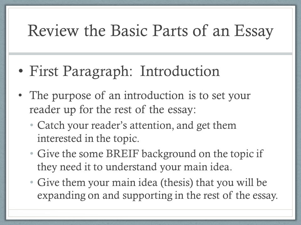 Identify The Main Parts Of An Essay What Are The Three Basic Parts Of An Atom