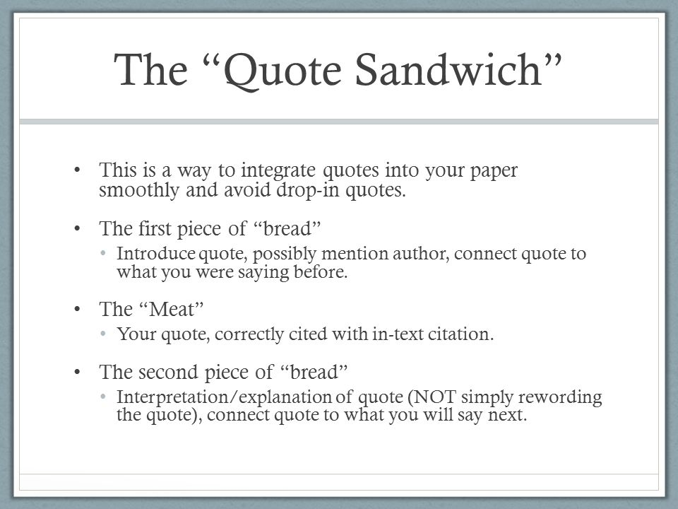 integrating a quote into an essay Three simple tips for integrating quotations into your essay writing--apa and mla research papers, theses, dissertations.