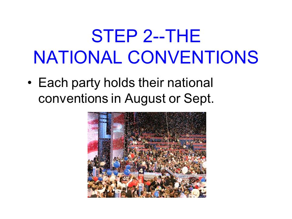 STEP 2--THE NATIONAL CONVENTIONS