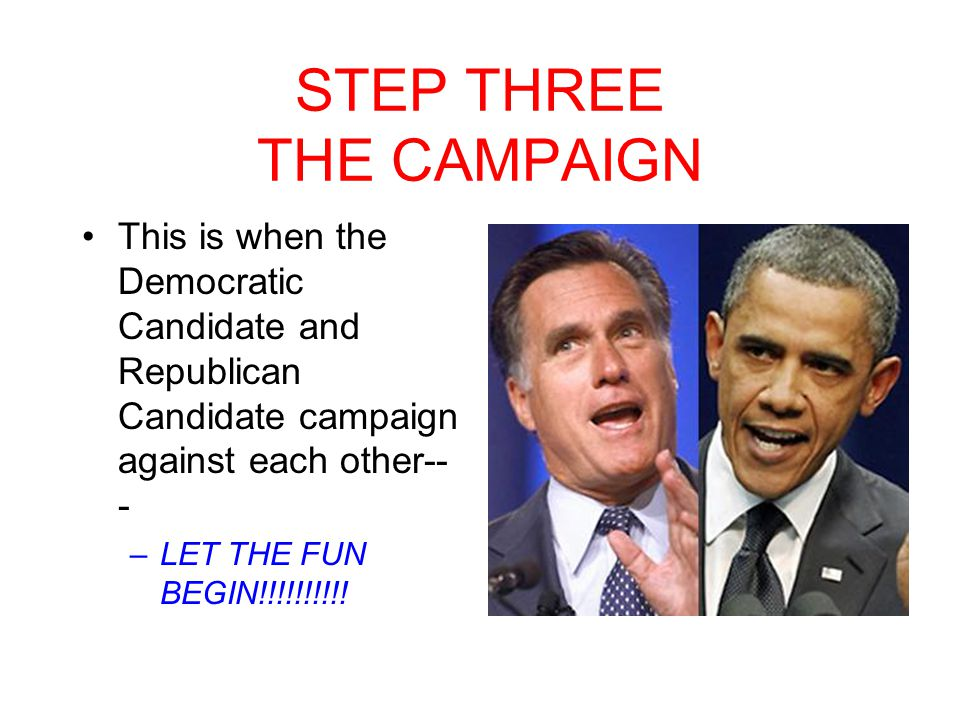 STEP THREE THE CAMPAIGN