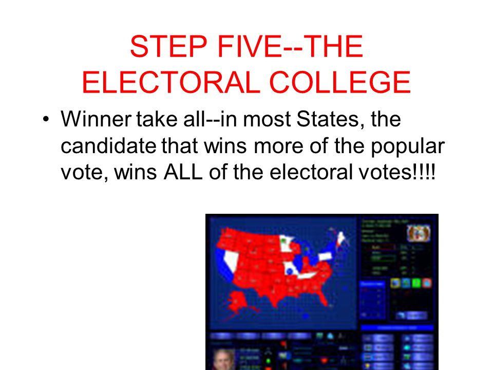 STEP FIVE--THE ELECTORAL COLLEGE