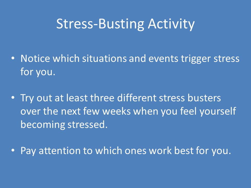 Stress-Busting Activity