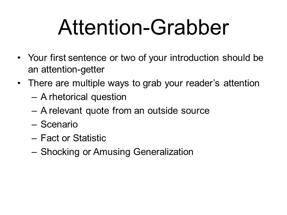 attention grabbers in essays