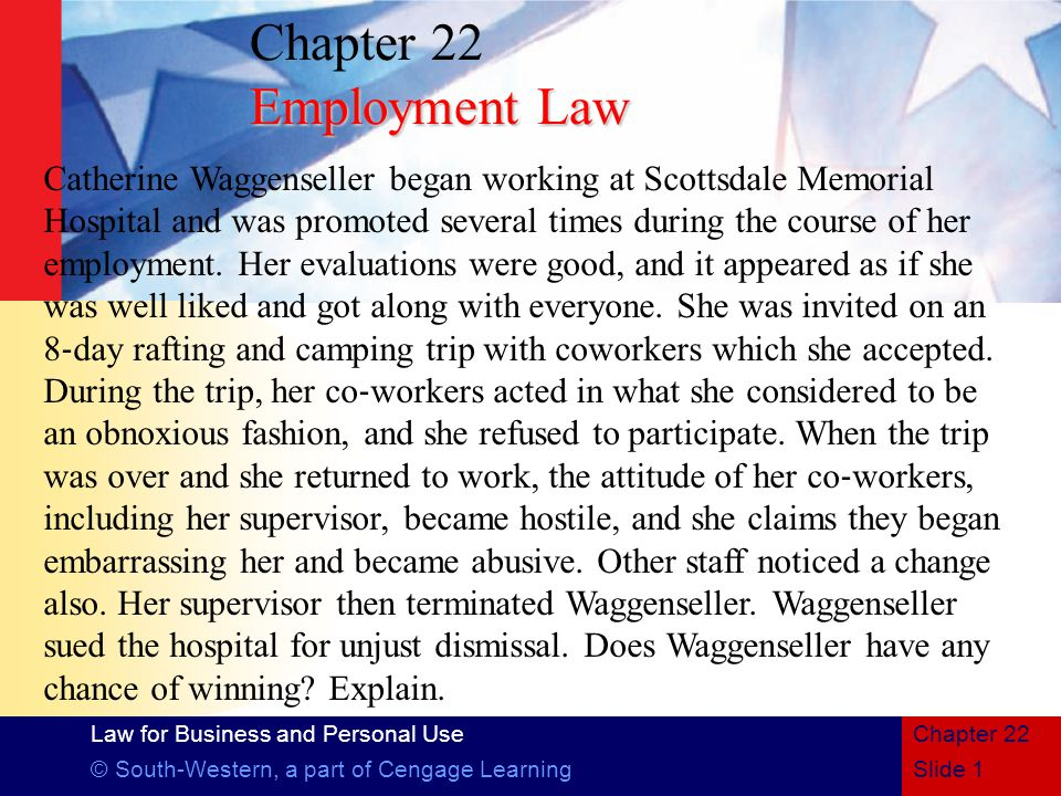 Chapter 22 Employment Law