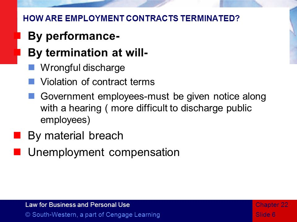 HOW ARE EMPLOYMENT CONTRACTS TERMINATED