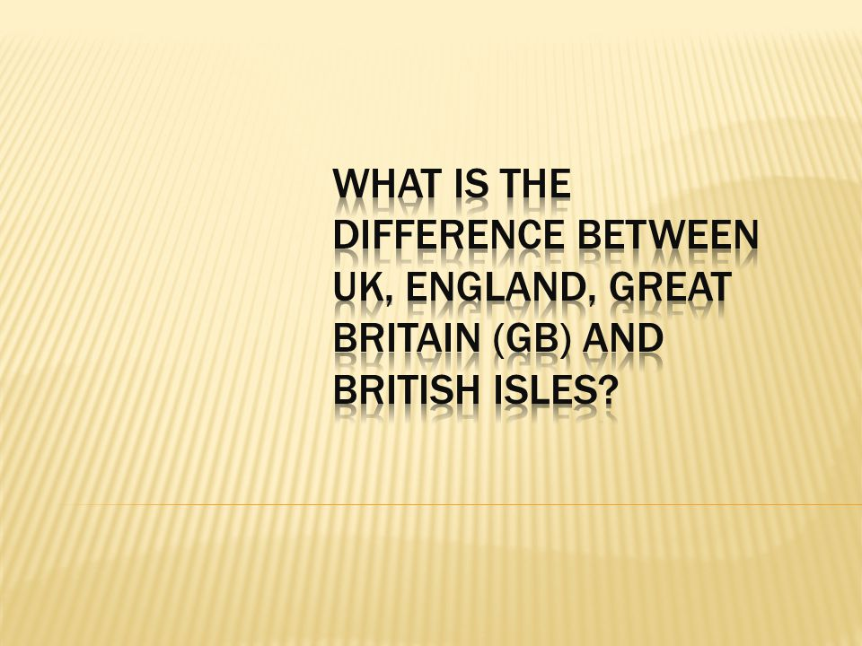 What is the difference between UK, England, Great Britain (GB) and British Isles