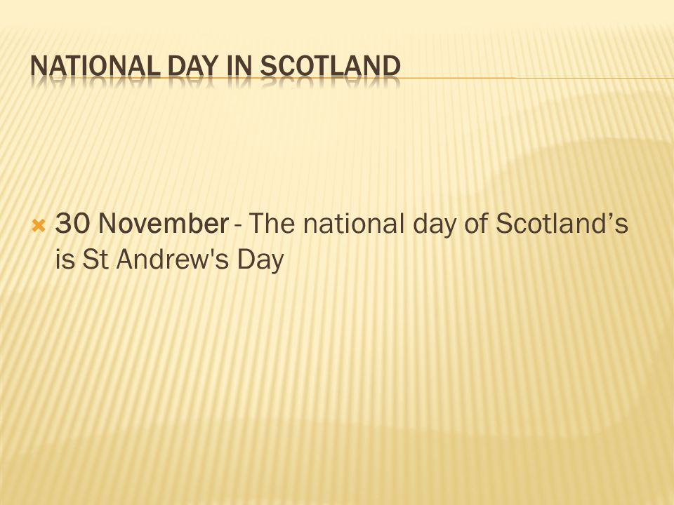 National Day in SCOTLAND