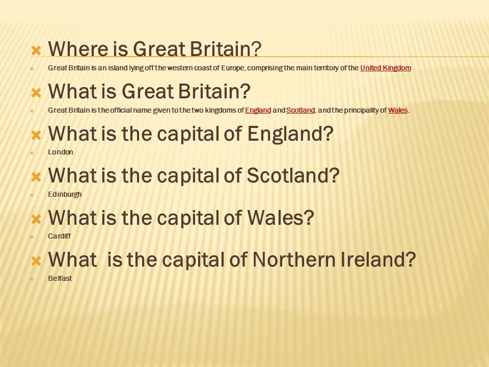 What is the capital of England What is the capital of Scotland