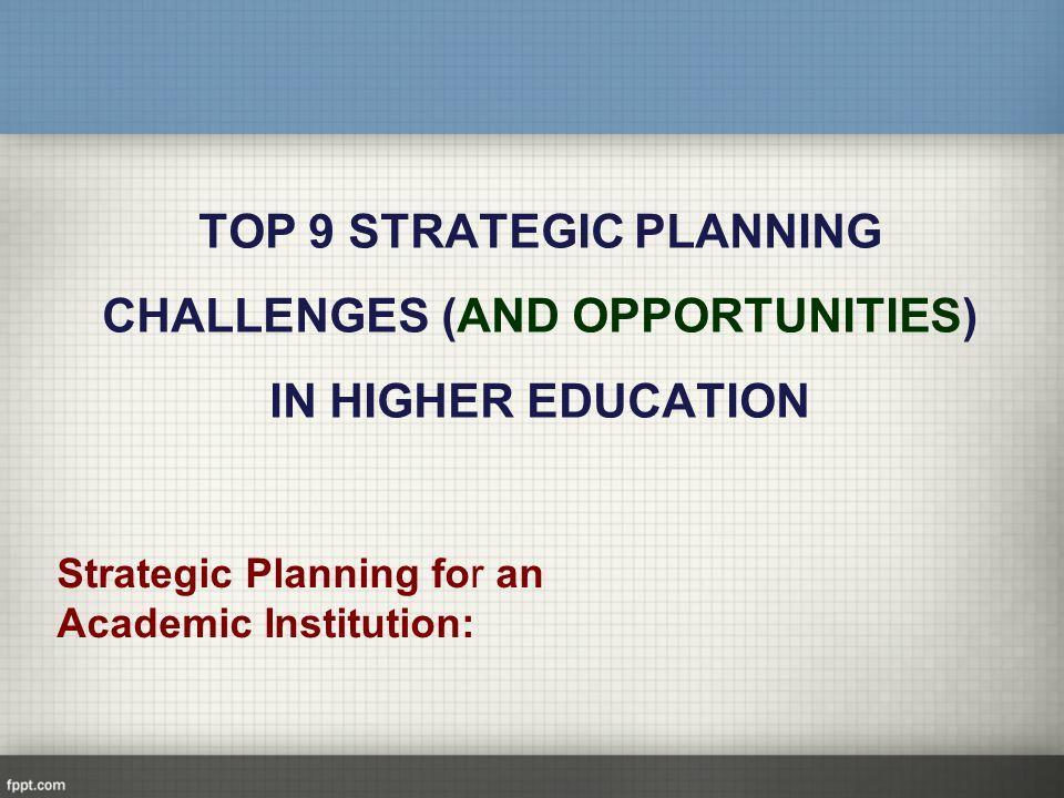 challenges of strategic planning pdf