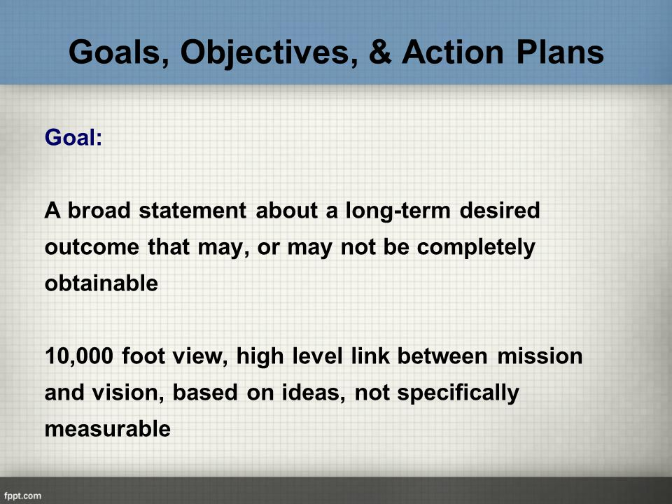 aims objectives and goals