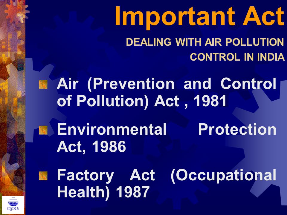 The regulation and importance of indoor air quality control