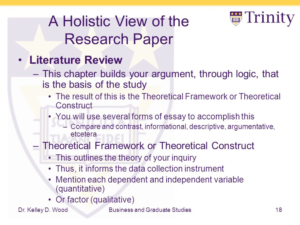 view a research paper My view is that p you must say  your paper doesn't always have to provide a definite solution to a problem, or a straight yes or no answer to a question.
