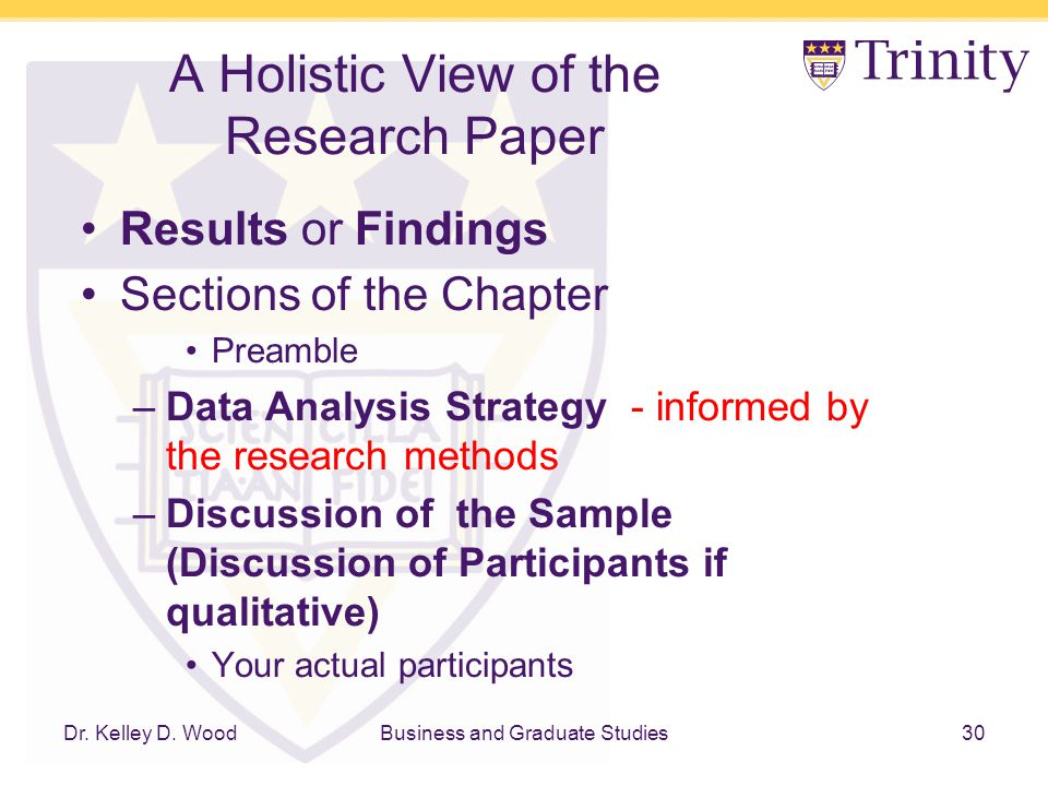 findings in research paper Research paper formats vary across disciples but share certain features some features include: introduction, literature review methodology, data analysis, results.