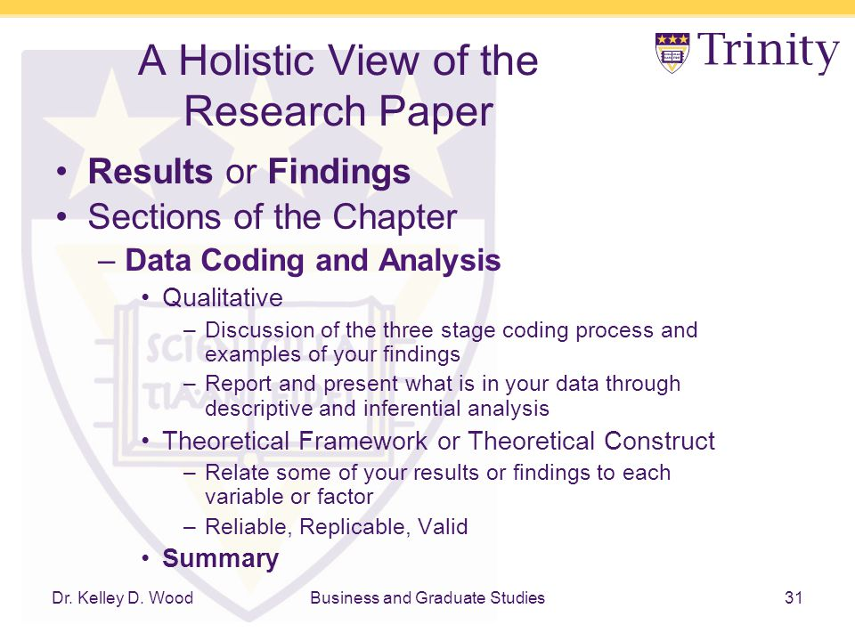 Sections of research paper