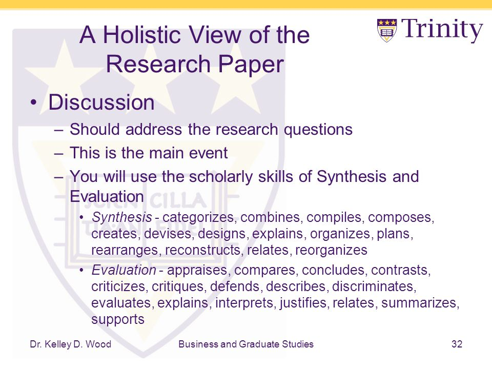 how to write a discussion in a research paper