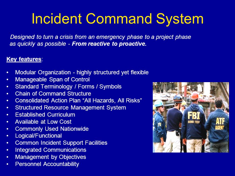 Incident Command System Overview CANUSLANT Incident ...