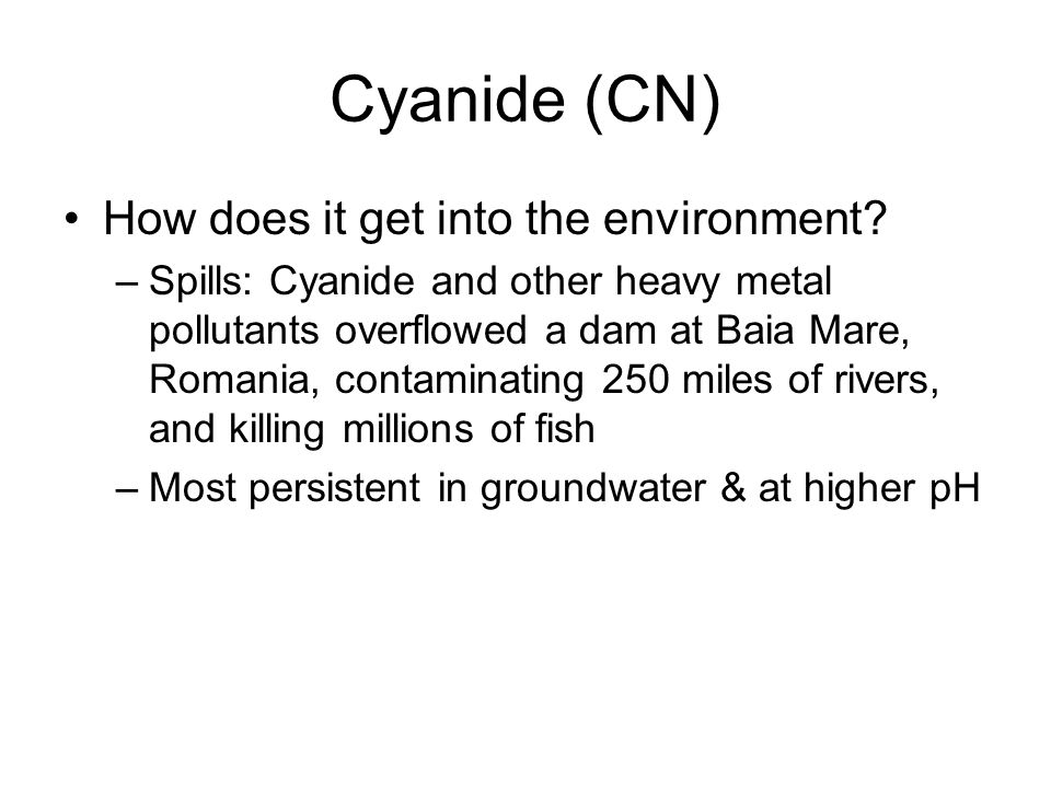Mercury arsenic cyanide ppt video online download for How does mercury get into fish