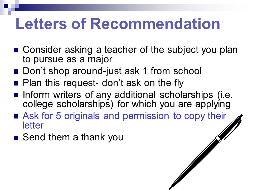 Letter Of Recommendation For School: INSIGHT INTO SCHOLARSHIPS