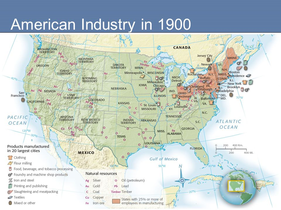 Chapter Industry Comes Of Age Ppt Download - Us lumber industry map 1900