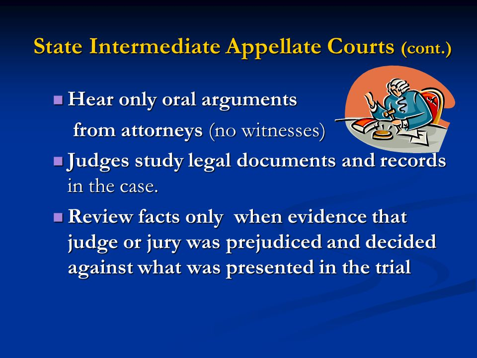 State Intermediate Appellate Courts (cont.)