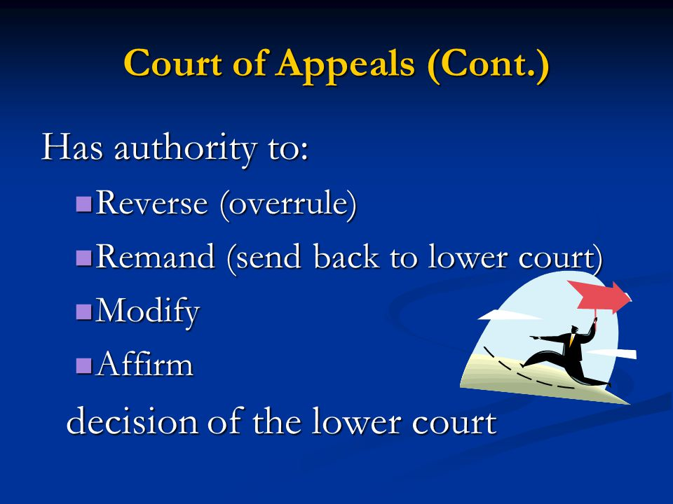 Court of Appeals (Cont.)