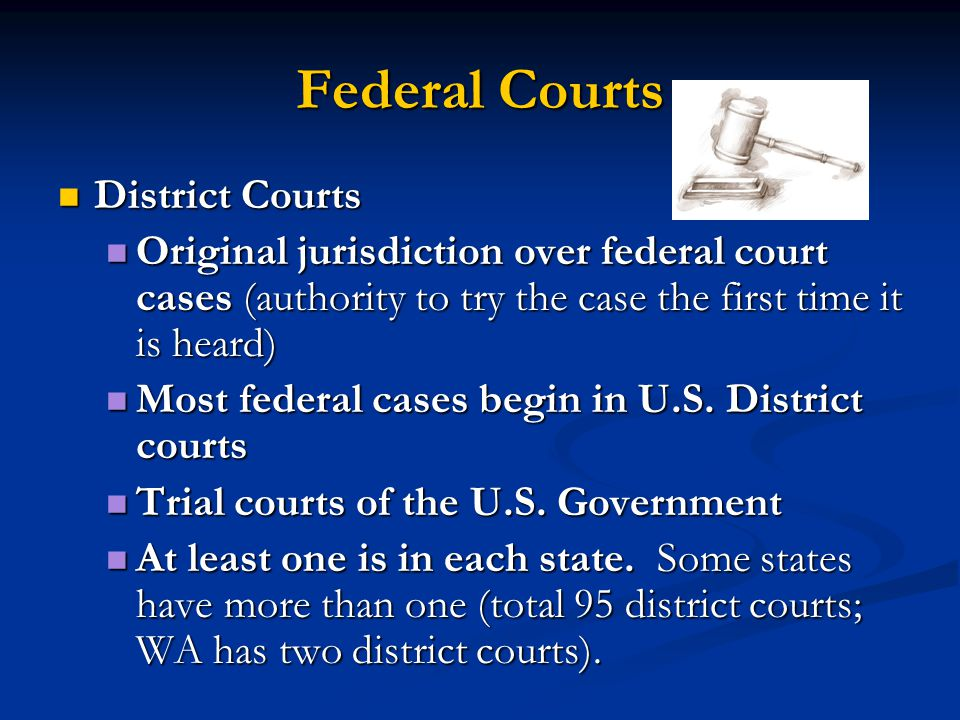 Federal Courts District Courts
