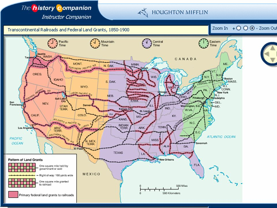 The Age Of Railroads OBJECTIVES Ppt Video Online Download - Map of us railroads in 1850