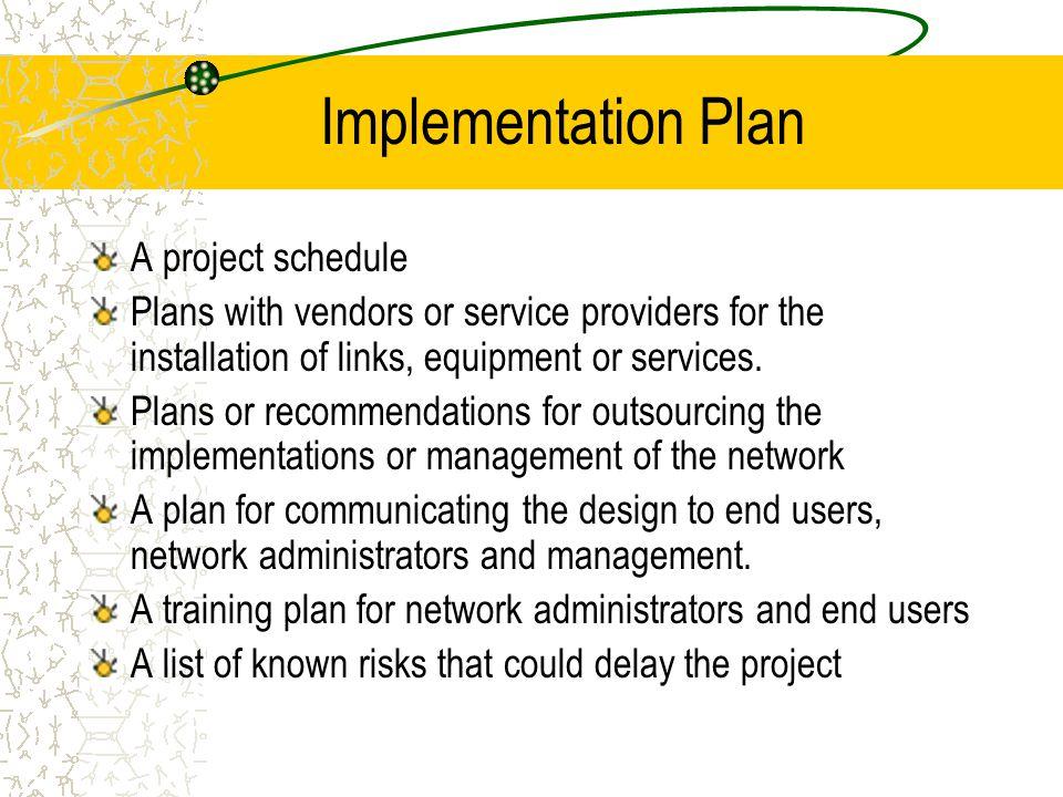 Documenting network design ppt download for Network design and implementation plan