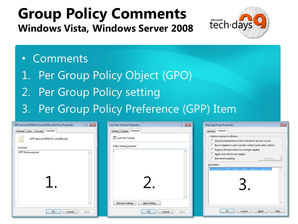 windows vista and group policy essay Hi, my name is bob newhouse and i will be discussing managing group policy  with windows vista to start we have added approximately 700.