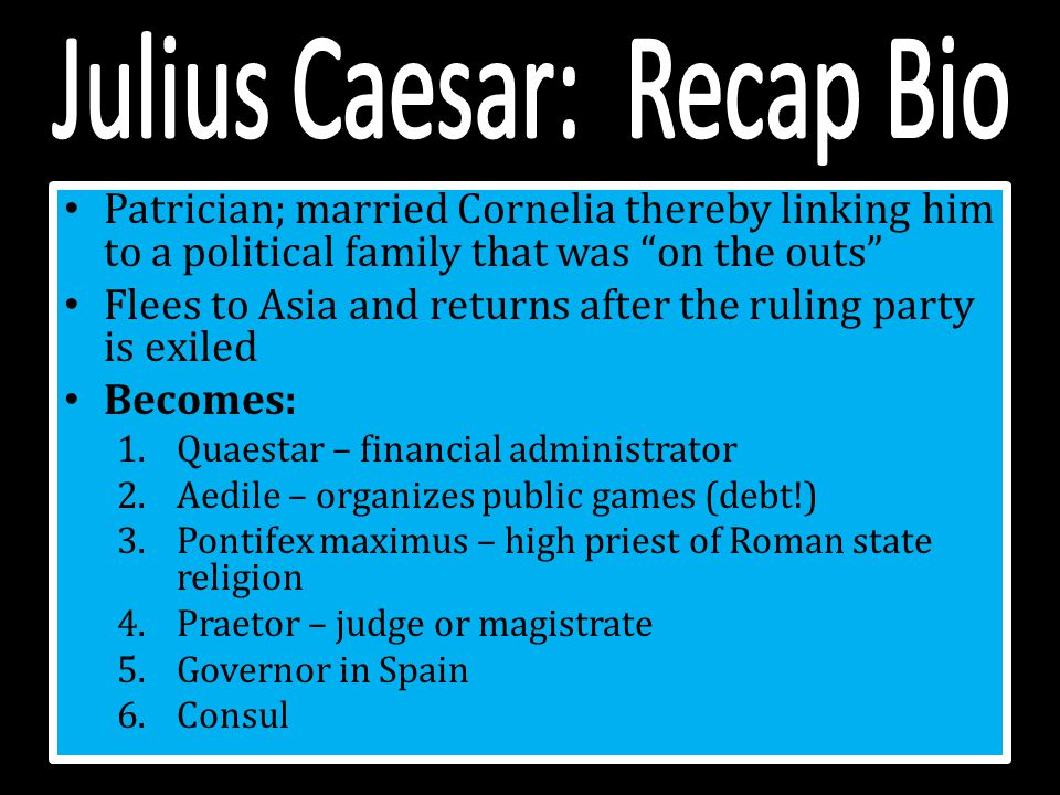 julius ceasar biography essay The name julius caesar summons imagery of an assassination that was so momentous that it has been immortalised by william shakespeare however, caesar was more than the victim of a conspiratorial group he was a politician, military commander and dictator this was a key moment in the history of.
