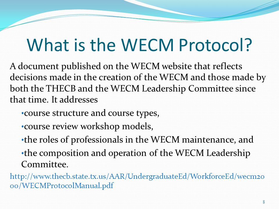 What is the WECM Protocol