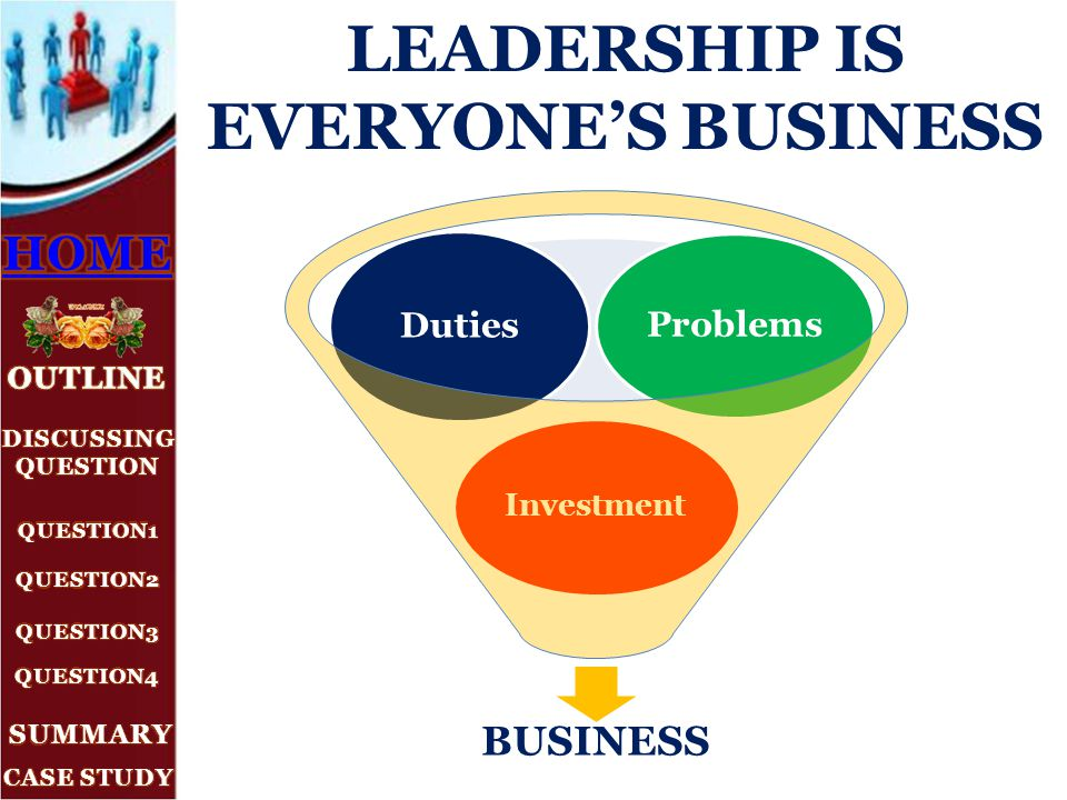 leadership case problem b Leadership case problem b how can we encourage a few disrupters  adrianna is the ceo of luxury designs, an officefurniture company that has been in business for forty years.