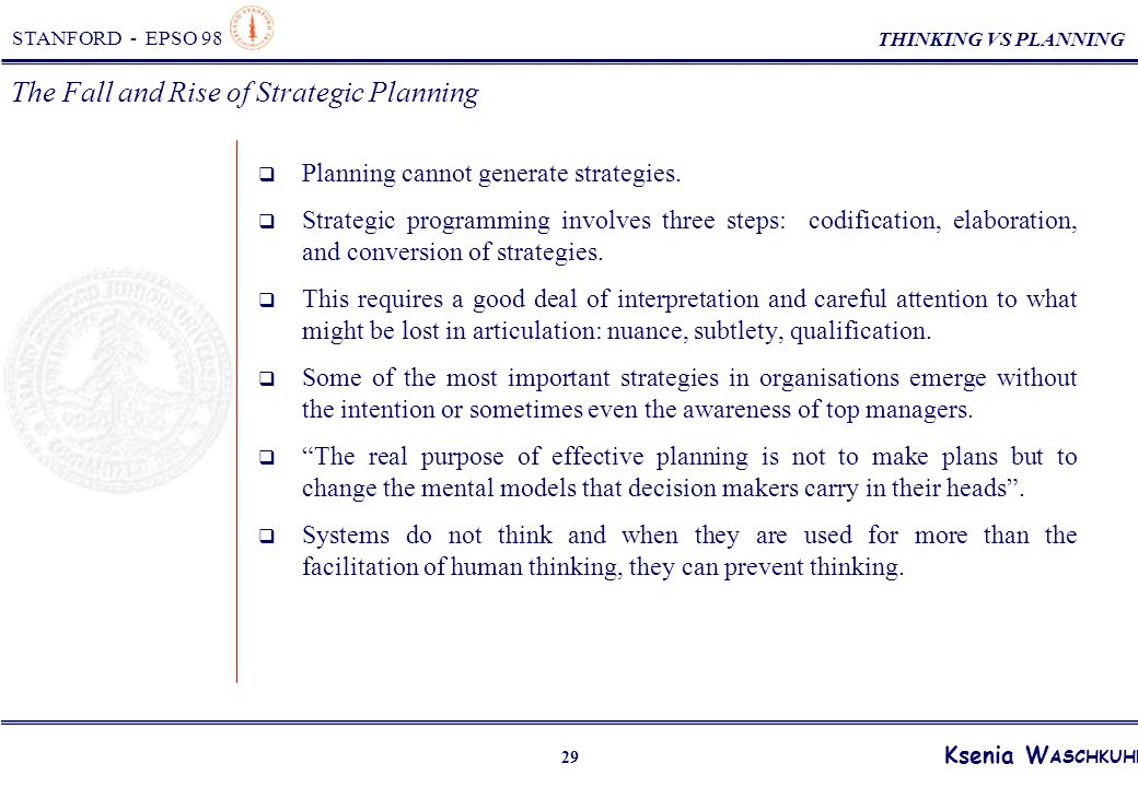 the rise and fall of strategic planning pdf download