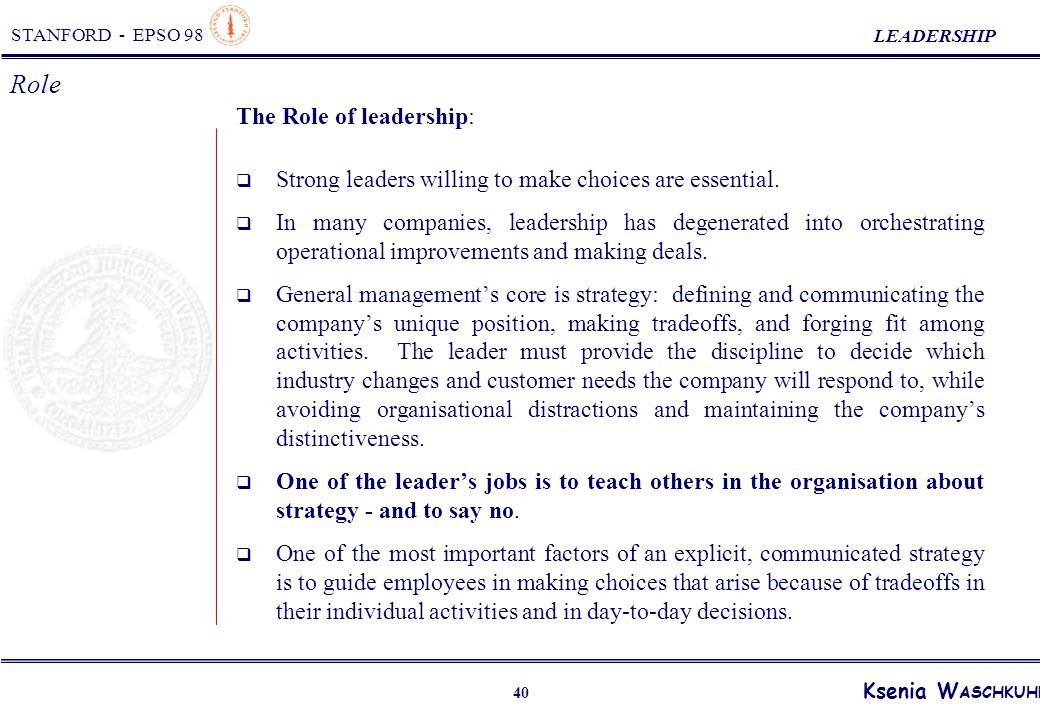 role of leadership in an organization pdf