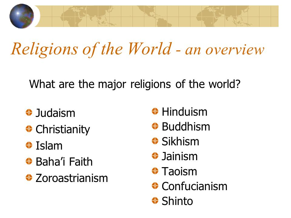 an overview of world religions buddhism The future of world religions: including buddhism and chinese folk religions an overview of how previous projections for.