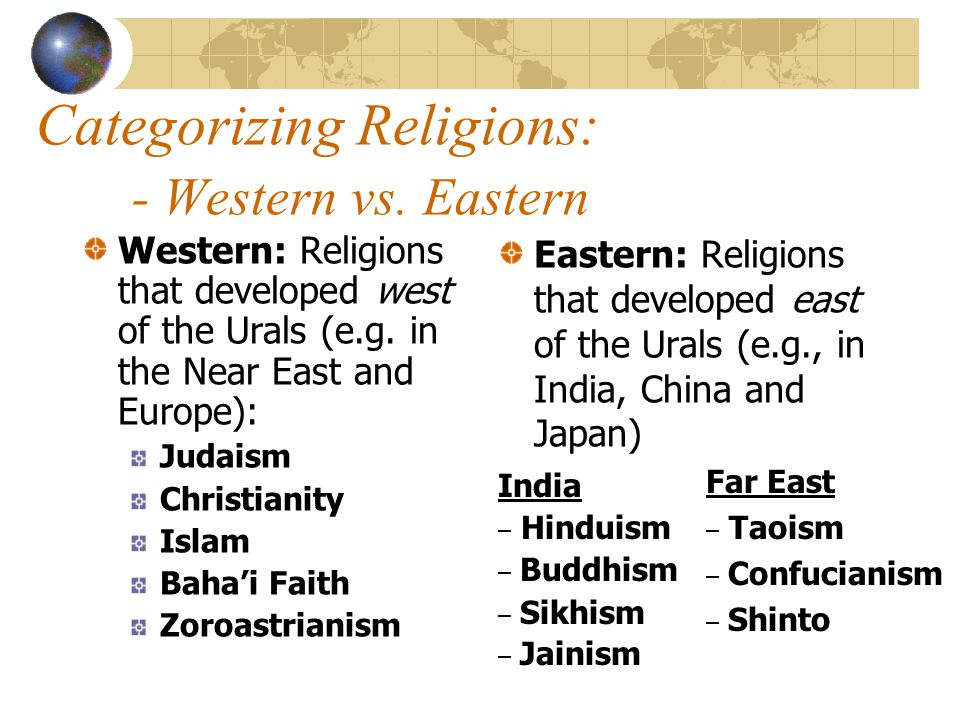 western and eastern religion comparison Comparative religion is the branch of the study of religions concerned with the systematic comparison of the doctrines and practices of the world's religions.
