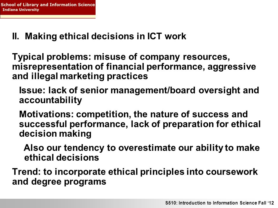 our ethical decisions are a result We analyzed the ethical decision-making of 129 professionals from across   moreover, the results of our study show that the structure of the.