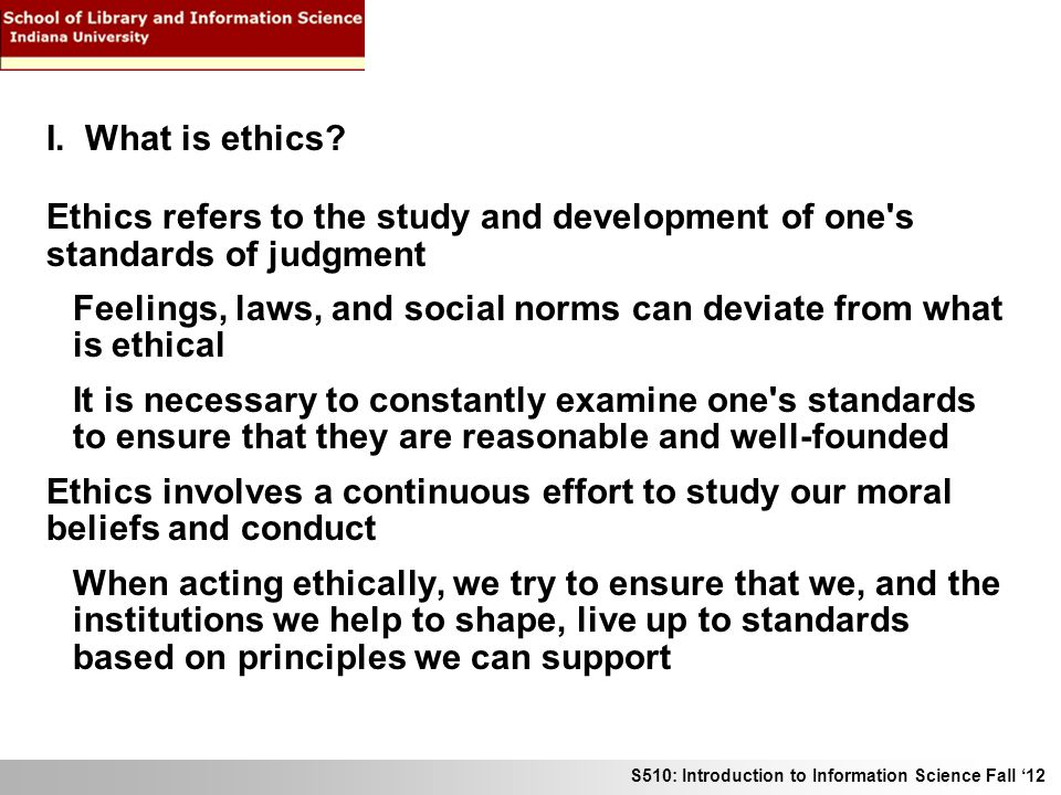 Normative study of ethics