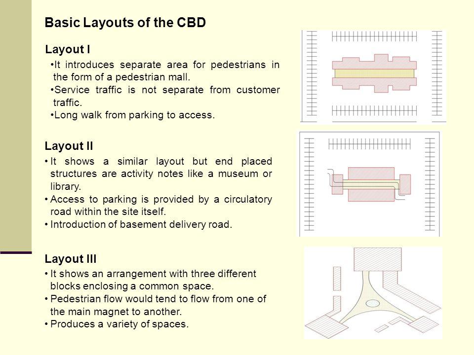 Basic Layouts of the CBD