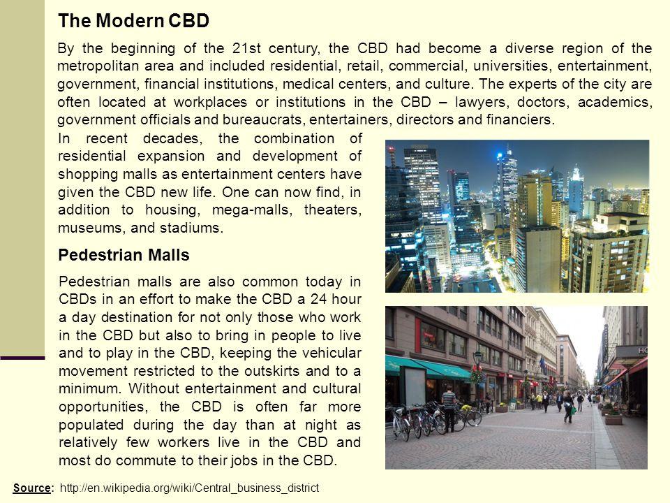 The Modern CBD Pedestrian Malls