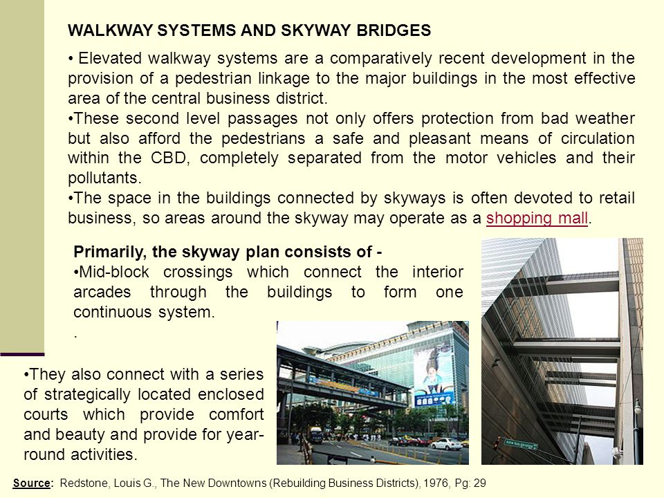 WALKWAY SYSTEMS AND SKYWAY BRIDGES